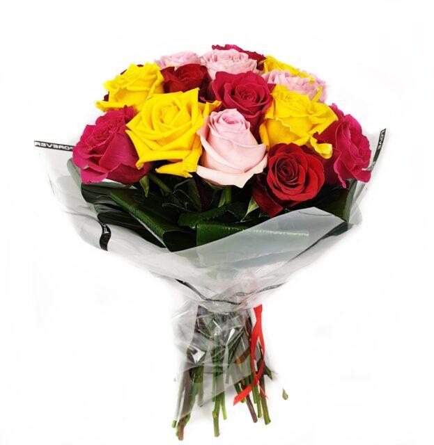 Buchet 19 trandafiri multicolori adalexa