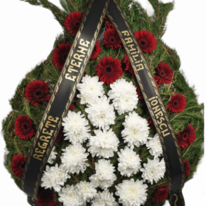 w coroana funerara cu gerbera si crizanteme 300x300 - Blog - Florarie Online Curtea de Arges